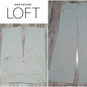 Ann Taylor LOFT  Pants Sz 32 Flare Leg Khaki Chino
